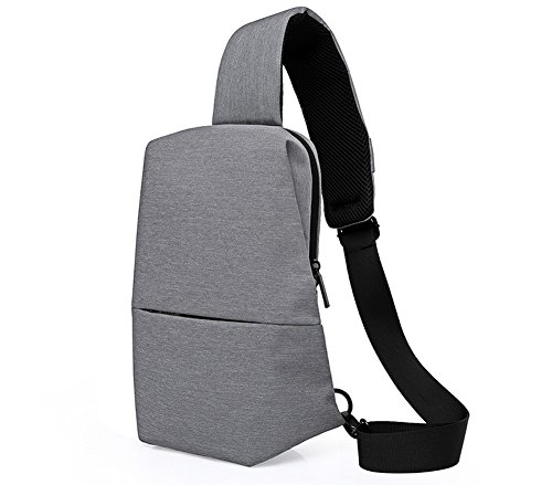 Zowaysoon Sling Shoulder Backpack Cross Body Bag Outdoor Travel Chest Bag for iPad Camera (Gray)
