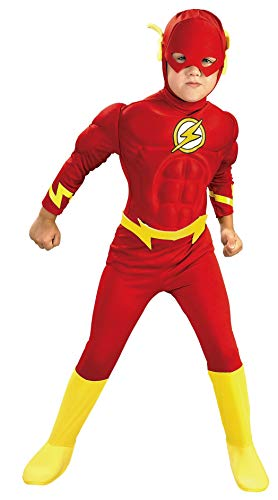 Rubie's DC Comics Deluxe Muscle Chest The Flash Child's Costume, ()