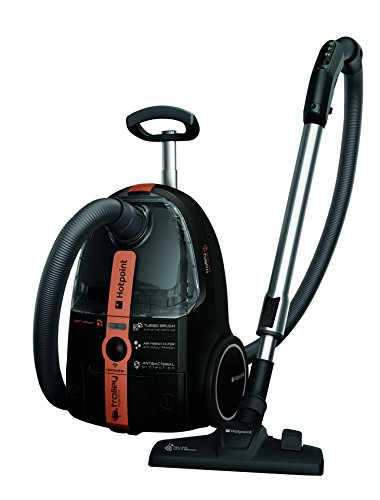 Hotpoint SL D10 BPB UK Trolley Extreme Clean Bag and Bagless Cylinder Vacuum Cleaner, 2 Litre, 1000 Watt