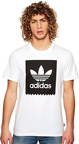 adidas Originals Mens Solid Bb Tee, White/Black, Large