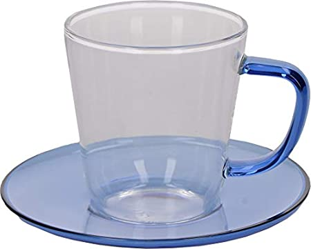 Glass Coffee Cup And Saucer Set