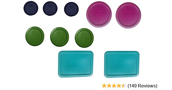 Amazon Replacement lids for Pyrex 20 piece set 10 Lids only