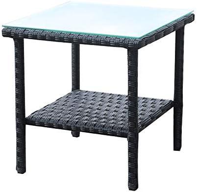 Rattaner Outdoor PE Wicker Rattan Side Table