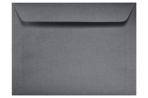 Sterling Annual - 9 x 12 Booklet Envelopes - Sterling Gray Linen (50 Qty.) | Perfect for Catalogs, Annual Reports, Brochures, Magazines, Direct Mail, Invitations and More | 4899-GRLI-50