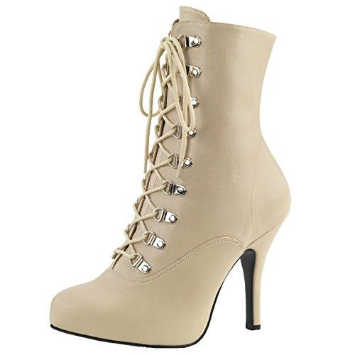Heels-Perfect - Pantuflas de caña alta Mujer beige (beige)