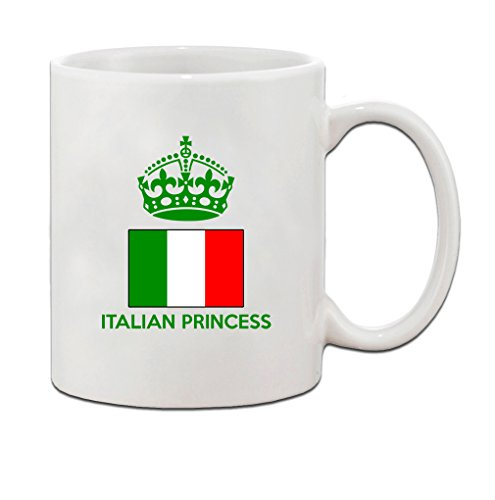 ITALIAN Princess Crown Ceramic Coffee Tea Mug Cup 11 oz