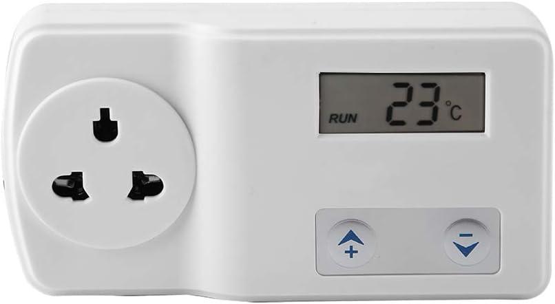 eecoo Smart Digital Thermostat Reptile Digital Temperature Controller for Reptile Hermit Crab Snake Lizard Control Range -9-39 ℃