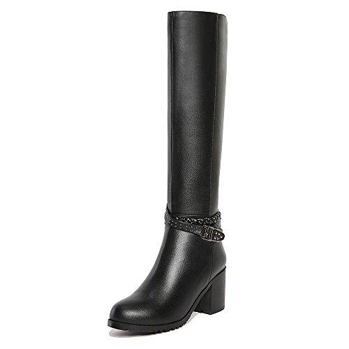 mujer Nine Botas negro High SevenKnee Boot zwxgxqSF