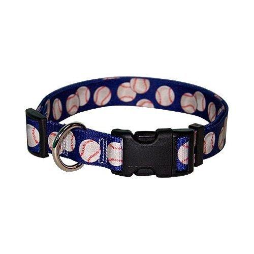 Yellow Dog Design Baseballs Break Away Cat Collar, One Size Fits All