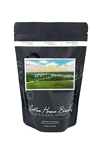 Mount Carmel  Illinois   Panoramic View Of The Free Bridge Over Wabash River  8Oz Whole Bean Small Batch Artisan Coffee   Bold   Strong Medium Dark Roast W  Artwork