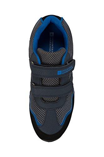 Mountain Warehouse Zapatillas Mars Para Niños - Zapatillas Ligeras, Zapatillas Cómodas de Verano, Zapatillas de Montaña con Tiras de Velcro Para Niños, Agarre Firme, Transpirables - Para Viajar Azul marino