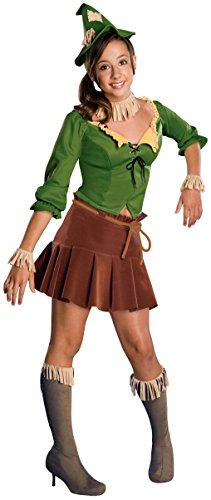 Rubie's Costume Co Juniors Wizard Of Oz Scarecrow Costume, Green/Tan, Medium