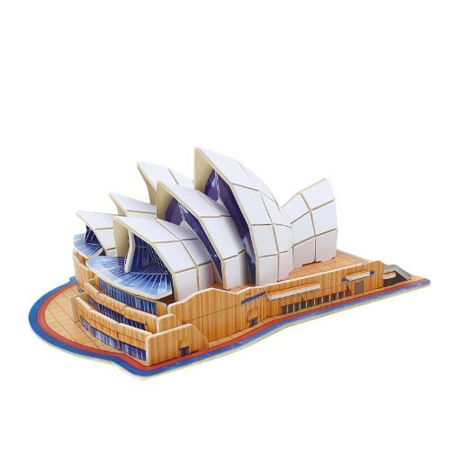 Diy 3d Wooden Puzzle Model Sydney Opera House 86 Pieces Home/office Decoration