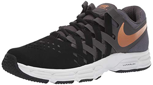 Nike Men's Lunar Fingertrap Trainer Sneaker, Thunder Grey/Metallic Copper, 7 Regular US