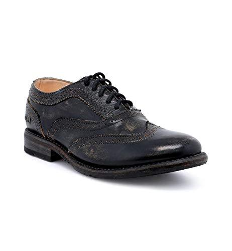 Bed|Stu Women's Lita Oxford Shoe (10, Black Hand Wash.)