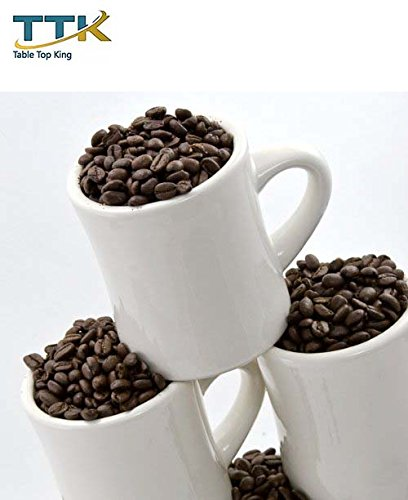 Table Top King Diner Coffee white Mugs - Set Of 6