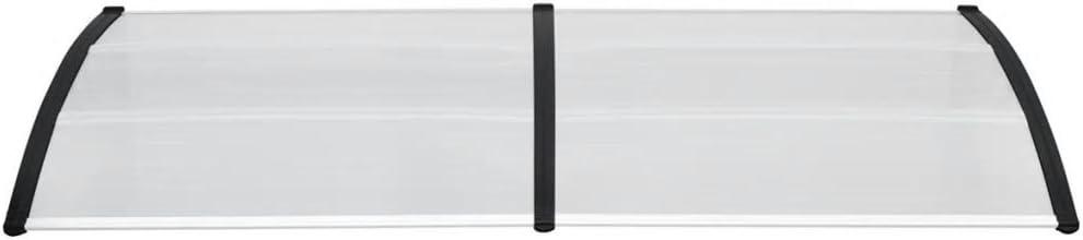 tidyard T/ürvordach Transparentes Vordach Pultvordach Haust/ürvordach Haust/ür /Überdachung Polycarbonat-Platten 240 x 100 cm