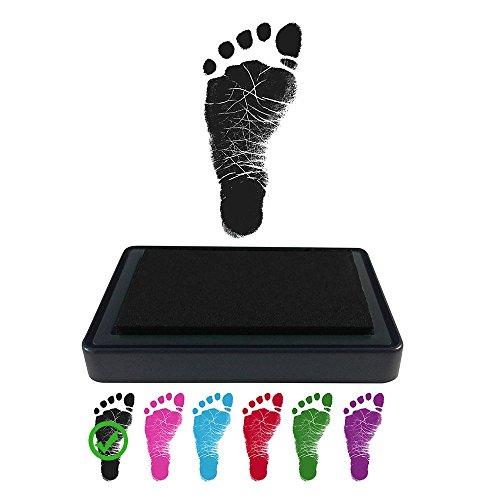 ReignDropBaby Baby Footprint Handprint Ink Pad - Create Impressive Keepsake Stamp - 100% Non-Toxic & Acid-Free Ink - Easy to Wipe/Wash Off Skin - Smudge Proof & Long Lasting Keepsakes - Free Ink Acid