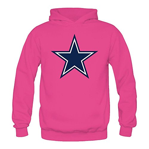 Noble Queen Womens Dallas Cowboys Fashion Hooded Sweatshirt  Hoodie Size M Pink