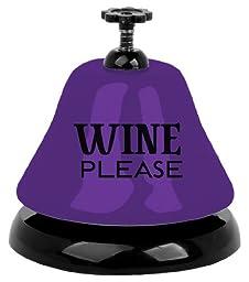 Slant Metal Bar Bell in Box Wine Please