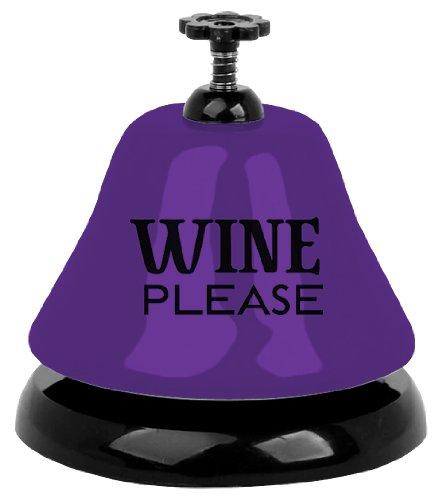 Slant Metal Bar Bell in Box Wine Please, Purple, 3.25''