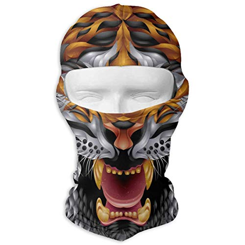 YIXKC Balaclava Tiger (3) Special Windproof Ski Mask Winter Sports for Adults