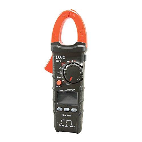 400A AC Auto-Ranging Digital HVAC Clamp Meter Klein Tools CL312 400a Digital Clamp