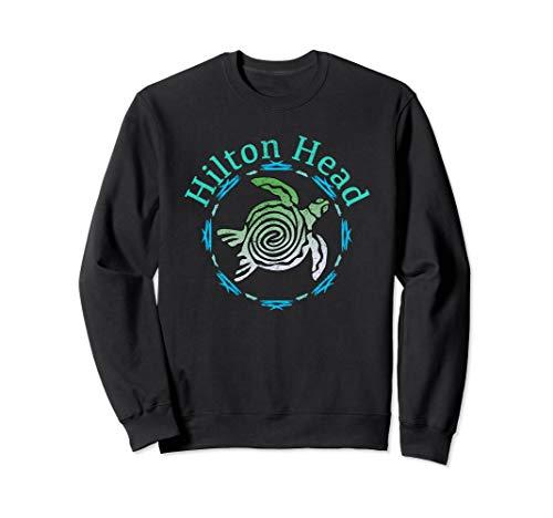 (Hilton Head Vintage Tribal Turtle Gift  Sweatshirt)
