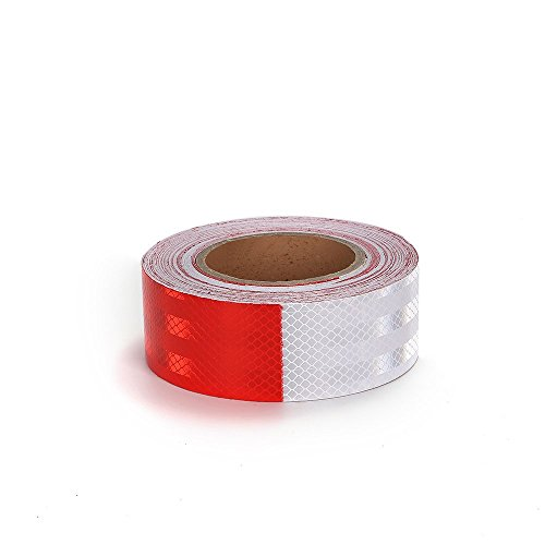 Knit Reflective Tape 2'' X30' Red White DOT-C2 High Intensity Grade - Conspicuity Safety Warning Tape for Cars Reflector Tape - 2 inch Waterproof Trailer Reflector Tape 1 Roll by Knit (Image #3)