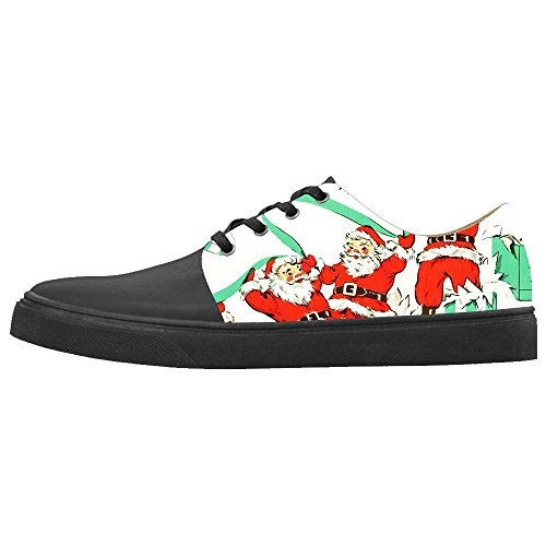 Cincinnati Bearcats Santa (Custom Women's Shoes Santa Claus New Sneaker Canvas Pointed Toes)