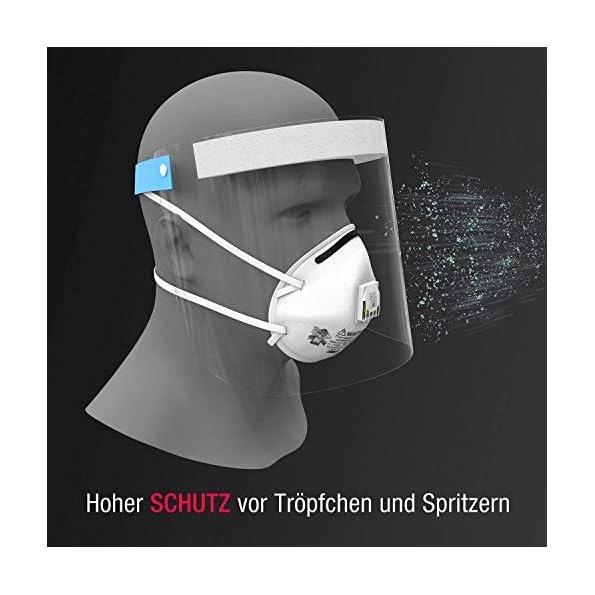 Urhome-Hard-1x-Visier-Gesichtsschutz-aus-Kunststoff-Face-Shield-in-Blau-Universales-Gesichtsvisier-fr-Erwachsene-Visier-zum-Schutz-vor-Flssigkeiten-Made-in-Germany