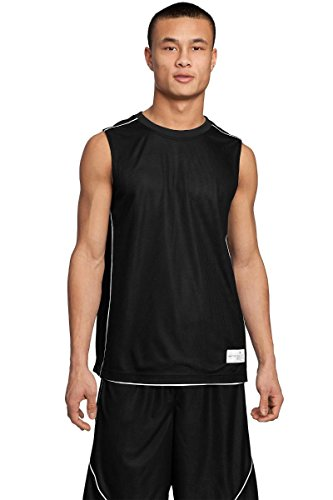 Black Reversible Sleeveless Shirt (Sport-Tek Men's PosiCharge Mesh Reversible Sleeveless Tee M Black)