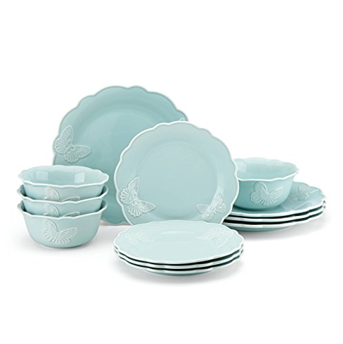 Lenox Butterfly Meadow Carved Collection 12-Piece Dinnerware