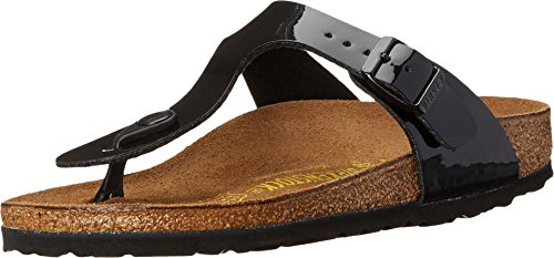 Birkenstock Women's GIzeh Thong Sandal, Black Patent, 39 N EU/8-8.5 2A(N) US (Best Mens Thong Sandals)
