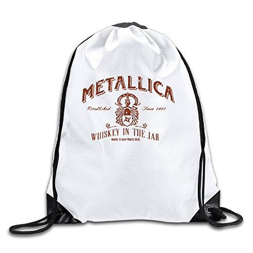 Price comparison product image Adult Drawstring Bags Metallica Whiskey In A Jar Sports Sackpack Backpack