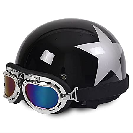 Amazon.es: Rainbow_Road Casco de motocicleta abierto casco Halley ...