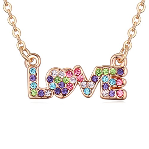 Elements Austrian Crystal Pendant Necklace -- Loving You (Purple) ()