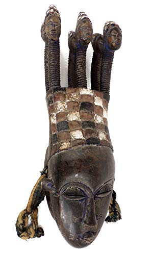 Multi Heads Ivory Coast African Art ()