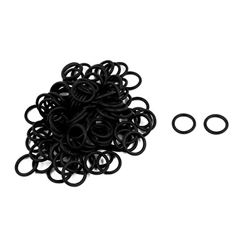 uxcell 100Pcs Black 10mm x 1.2mm Nitrile Rubber O Ring NBR Oil Sealing Grommets