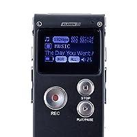 KLAREN Portable Grey 8GB Digital Audio Voice Recorder, MP3 Music Player from KLAREN