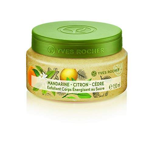 Yves Rocher Les Plaisirs Nature Energizing Sugar Body Scrub - Mandarin Lemon Cedar, 150 ml./5 fl.oz. -