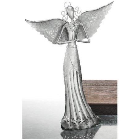 Metal Art Angel Candle Holder - 9