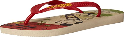 Havaianas Mens Disney Sandalo Elegante Infradito Beige / Rosso