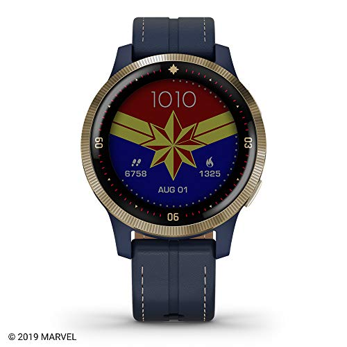 Garmin Legacy Hero Series, Marvel Captain Marvel Inspired Premium Smartwatch, Includes a Captain Marvel Inspired App Experience