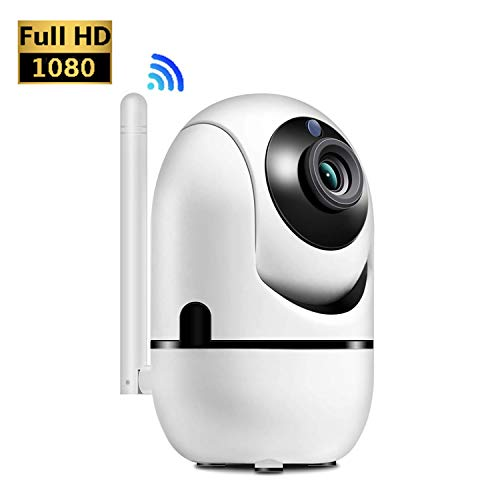 HALUM WiFi IP Camera, 1080P Home Security Surveillance Indoor Wireless Camera with HD Night Vision/Two-Way Audio/Motion Detection Pan/Tilt Camera for Baby/Elder/Pet Monitor