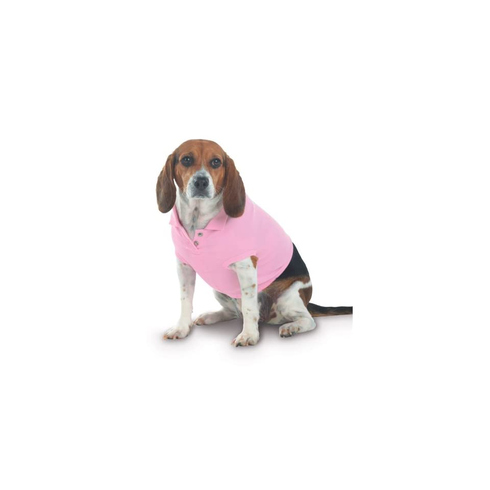 Puppy dog Golf Shirt Pink size Large