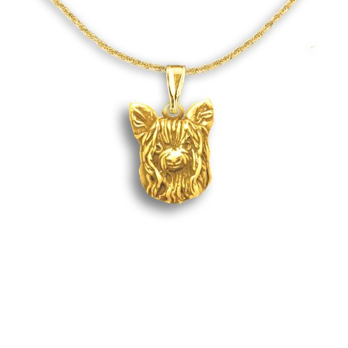 Amazon 14k gold yorkie pendant by the magic zoo jewelry 14k gold yorkie pendant by the magic zoo aloadofball Image collections