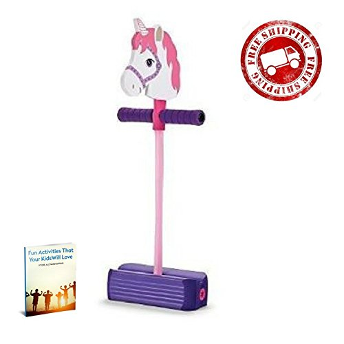 Pogo Stick for Kids Toddlers Girls Foam Jumper Pink Boing Pogo Stick & eBook by AllTim3Shopping by ATS