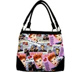 I Love Lucy LU613 Pink Collage Medium Purse for sale  Delivered anywhere in USA