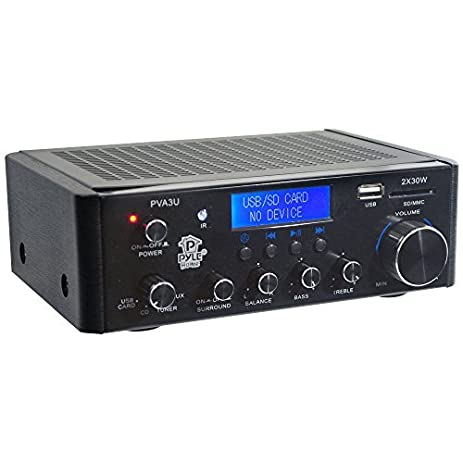 PVA3U 60 Watts Mini Amplificador Hi-Fi con USB / SD Card Player